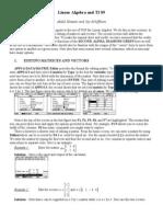 TI89 for Linear Algebra