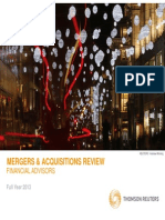 Thomson Reuters Mergers and Acquisitions Review 2013