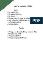 Reglas del Torneo Junior PokéCup