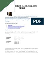 Desimlocker La Cle 3g Zte Mf192