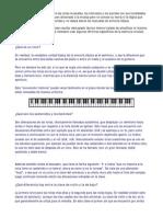 Breve información general sobre las notas musicales