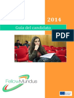 Becas Fellow Mundus 2014