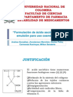 Formulación de ácido ascórbico en emulsión