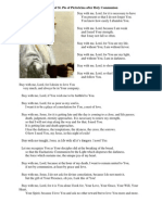 Prayer of St. Pio of Pietrelcina