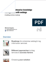 Supporting enterprise knowledge management with weblogs