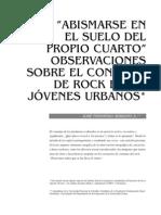Consumo de Rock en Jovenes de Jose Serrano