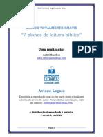 7 planos de leitura Bíblica