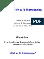Introduccion a la Biomecánica