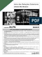 Cespe-2006-Irbr-diplomata 1 Etapa Alfa
