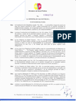 Acuerdo Ministerial 2716 Licenciamiento II Nivel