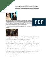 Beberapa Fakta Yang Terkuak Dari Film Twilight