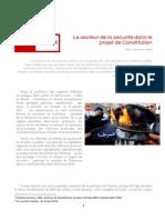 secteur de la sécurité dans la constitution