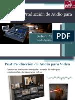 Post Producción de Audio para Video
