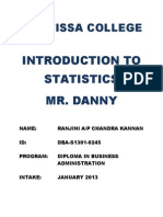 Introduction to Statistics Assignment