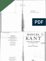 Torreti Roberto - Manuel Kant Estudio Sobre Los Fundamentos de La Filosofia Critica