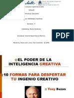 Resumen en Diapositivas de El Poder de La Inteligencia Creativa