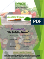 mkt plan presentation of healthy veggie