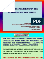 Effect of Nanosilica on the Performance of Cement