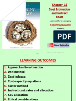 Chapter 15 - Cost Estimation