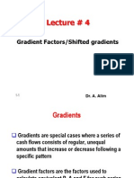 Lecture # 4 Gradients Factors and Nominal and Effective Interest Rates