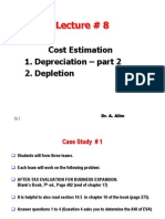 Lecture # 8 Depreciation II