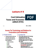 Lecture # 9 Taxes and EVA