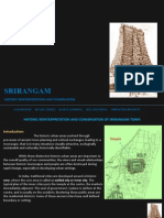 Historic Reinterpretation and Conservation of Srirangam Town