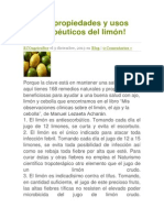 168 propiedades y usos terapéuticos del limón