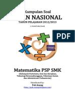 Naskah Soal UN Matematika PSP SMK 2013 (1 Paket Soal) Pak-Anang.blogspot.com