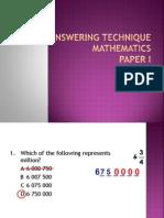 Teknik Menjawab Kertas 1