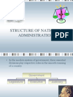 12. Structure of National Administration