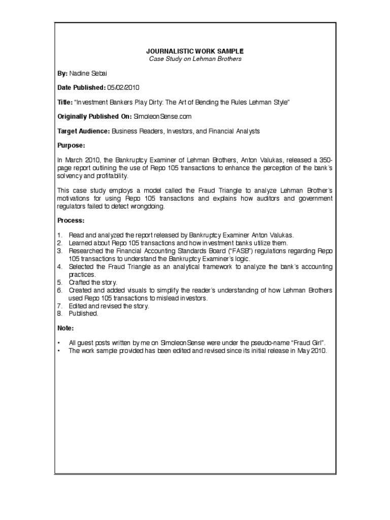 Case study examples ernst and young for Ernst and young resume sample