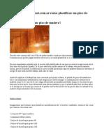 Pulido PLastificado de pisos de madera