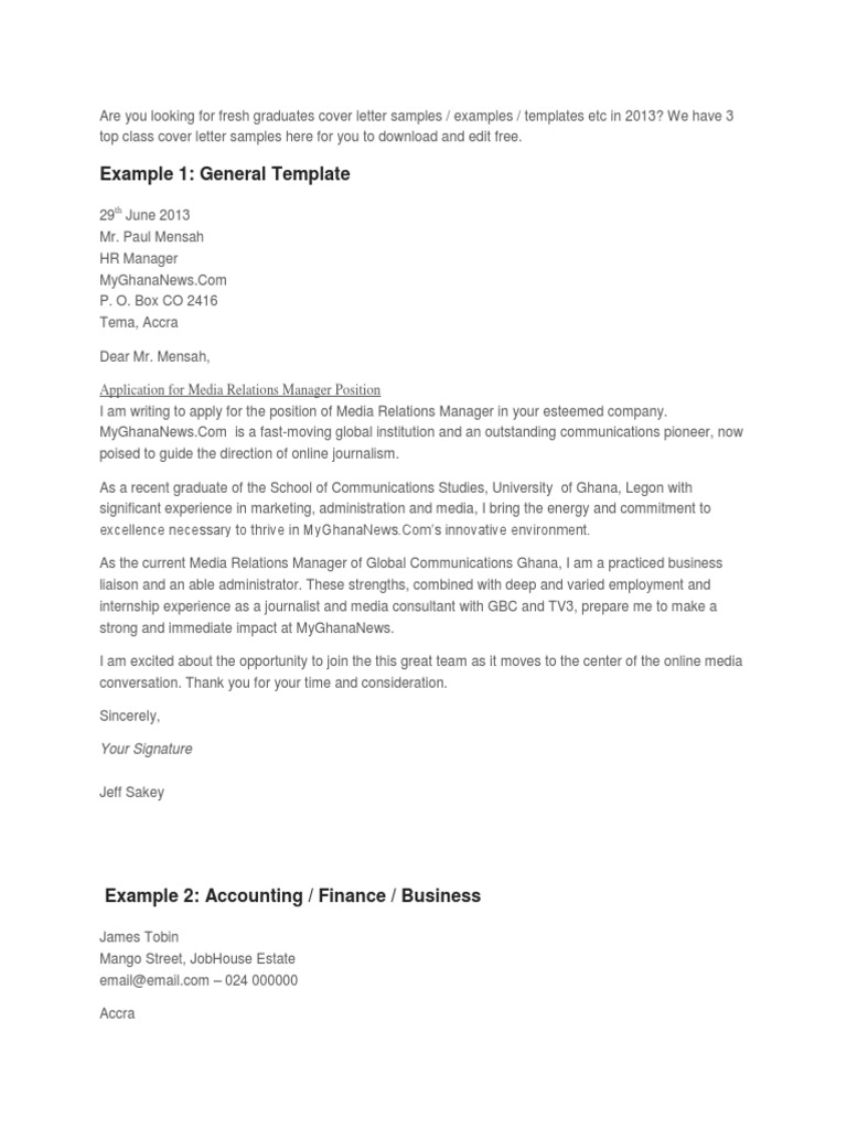 Contoh Cover Letter Internship Accounting