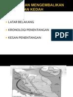 Sejarah Penentangan Di Kedah