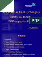 Heat Exchanger Inspection