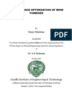 Performance Optimization of Wind Turbines