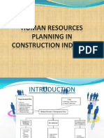 Human Resources Planning in Construction Industry