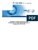 Intelligent Transport Systems (ITS); Cooperative ITS (C-ITS); Release 1 Framework for Public Mobile Networks in Cooperative ITS (C-ITS)