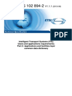 Intelligent Transport Systems (ITS); Cooperative ITS (C-ITS); Release 1  Users and Applications Requirements - Part 2 Applications and Facilities Layer Common Data Dictionary