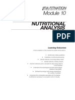 FIT401 T5 Nutrition NutritionalAnalysis