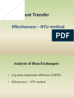 Effectiveness- NTU Method