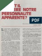 André Dumas - Qu'y a t'il derrière notre personnalité apparente  1979