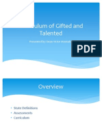 Curriculum of Gifted and Talented