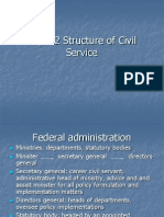 Topic 2 Structure of Civil Service