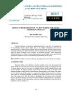 909design of High Efficiency Pelton Turbine for Micro-hydropower