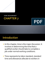 CHAPTER 7 - Work Measurement