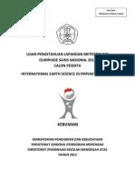 Soal Lapangan Meteorologi Osn Kebumian 2013