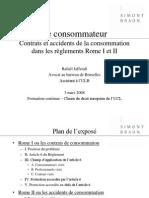 Consommateurs - Rome I Et II