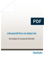 4.1 a Microbial EOR Pilot in the Gullfaks Field